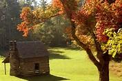 Cabin- Blue Ridge Fall